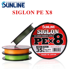 100% Original SUNLINE SIGLON PE 8 Strands 150M Light Green Braided Fishing Line Fishing Tackle Weave Made in Japan