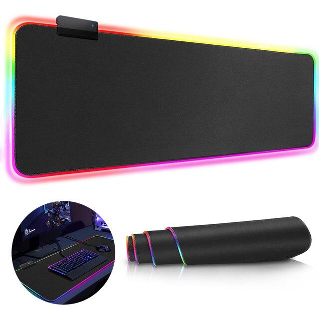 Большой коврик для мыши игровой коврик для мыши геймер Коврик для мыши RGB коврик для мыши XXL компьютерный коврик с подсветкой коврик для мыши настольная клавиатура