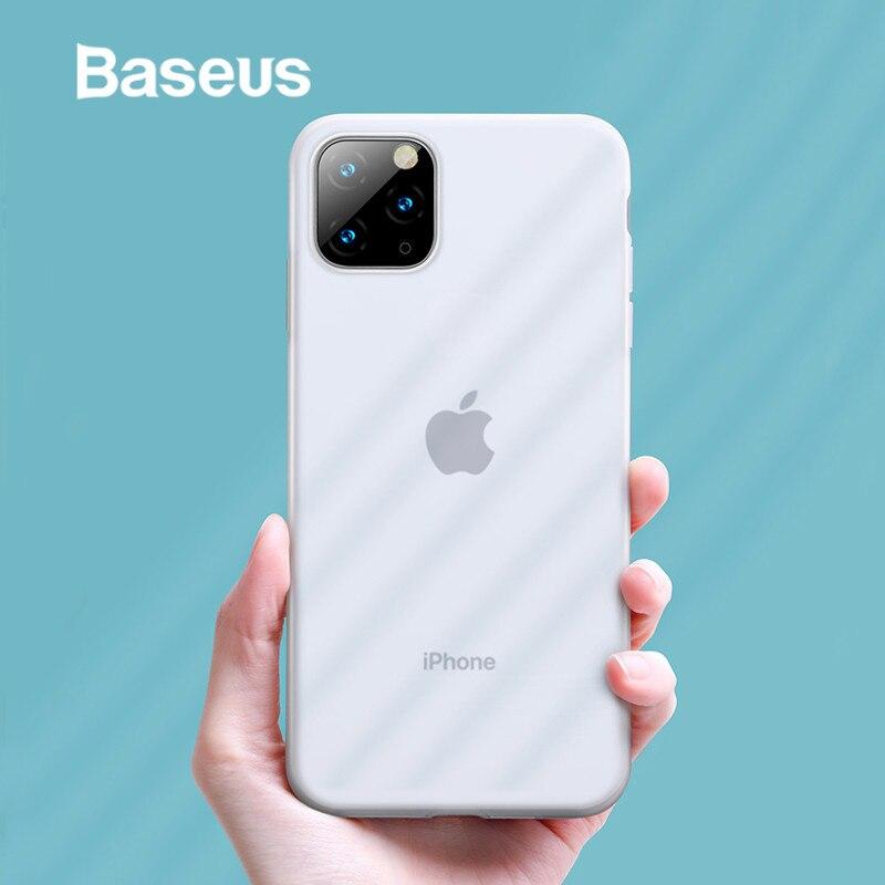 Baseus Capa De Silicone Líquido Para iPhone 11 Pro Max Caso Coque Silicone Capa Para o iphone 11 Pro Caso de Telefone de Volta caso Coque