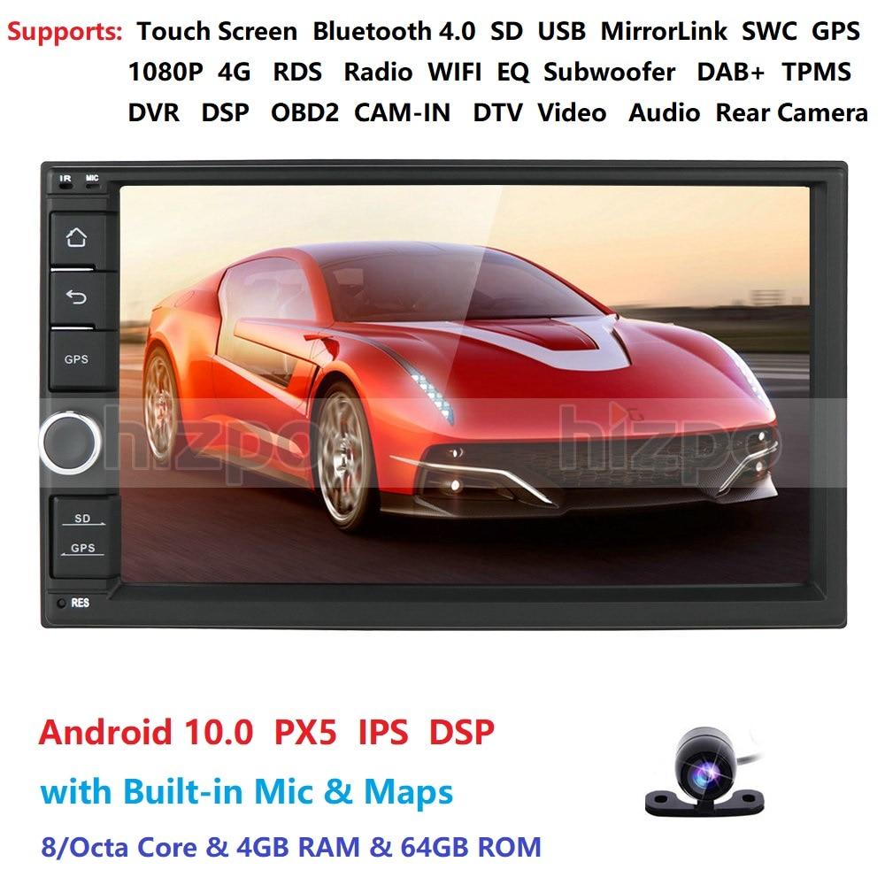 "HIZPO 7/"" Android 8.0 2Din Car Stereo 8Core RAM:4GB Radio GPS DAB+Wifi DVR 4G+Cam"