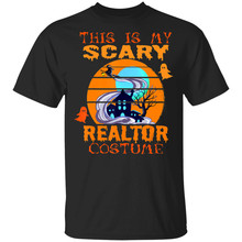 This Is My Scary Realtor Costume Halloween Estate Agent Gift Black T-Shirt M-... Loose Size Top Ajax Tee Shirt(China)