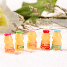 5pcs /lot 23*11mm Cute Mixed Cabochon Resin milk bottle Cabochon for diy Decoration(China)