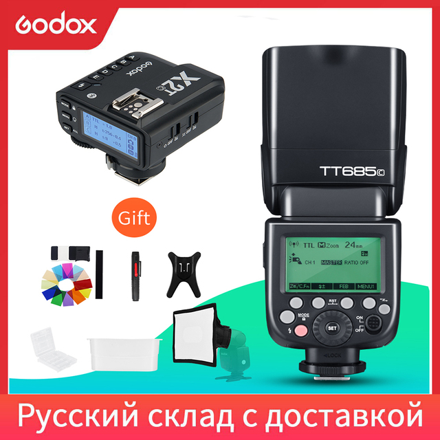فلاش Speedlite مع مشغل X2T لكانون نيكون سوني فوجي أوليمبوس, TT685C TT685N TT685S TT685F TT685O 2.4G HSS TTL GN60