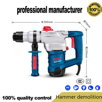 1100W electrical breaker hammer demolition for wood steel  hole for cement broken at good price