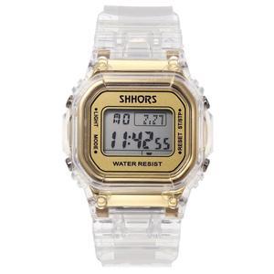 Image 1 - ファッションメンズレディース腕時計ゴールドカジュアル透明デジタルスポーツウォッチ恋人のギフト時計防水子供子供の腕時計