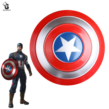 Captain America Shield for Steven Rogers Cosplay Prop Captain America Metal Shield Halloween Shield for Men Props 2 style captain america shield steve rogers cosplay prop superhero shield pu props halloween party toy 2pcs set