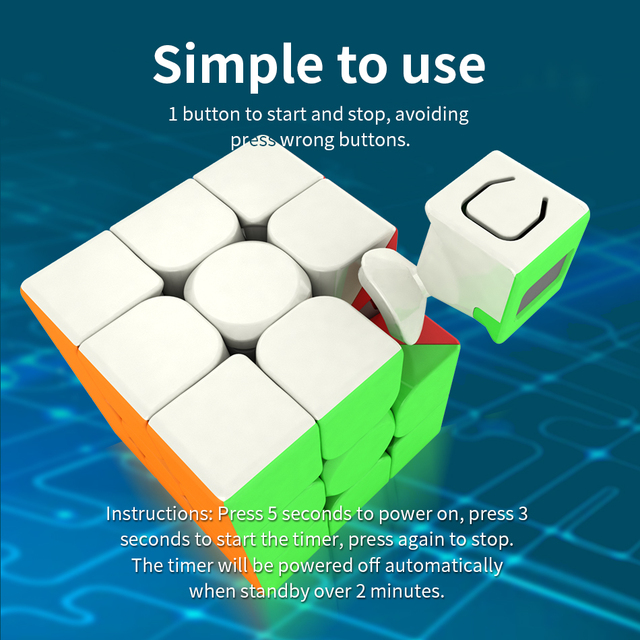 Moyu Meilong 3x3x3 Magic Timer Cube Cubing Classroom Profissional Competition 3×3 Puzzle Speed Cube Stickerless Toys For Kids