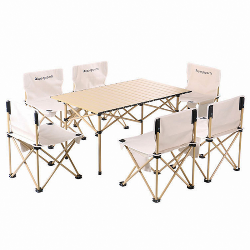 Egg roll Outdoor Folding Table Chair Camping set Aluminium Alloy BBQ Picnic Table Waterproof Durable Folding Table Desk