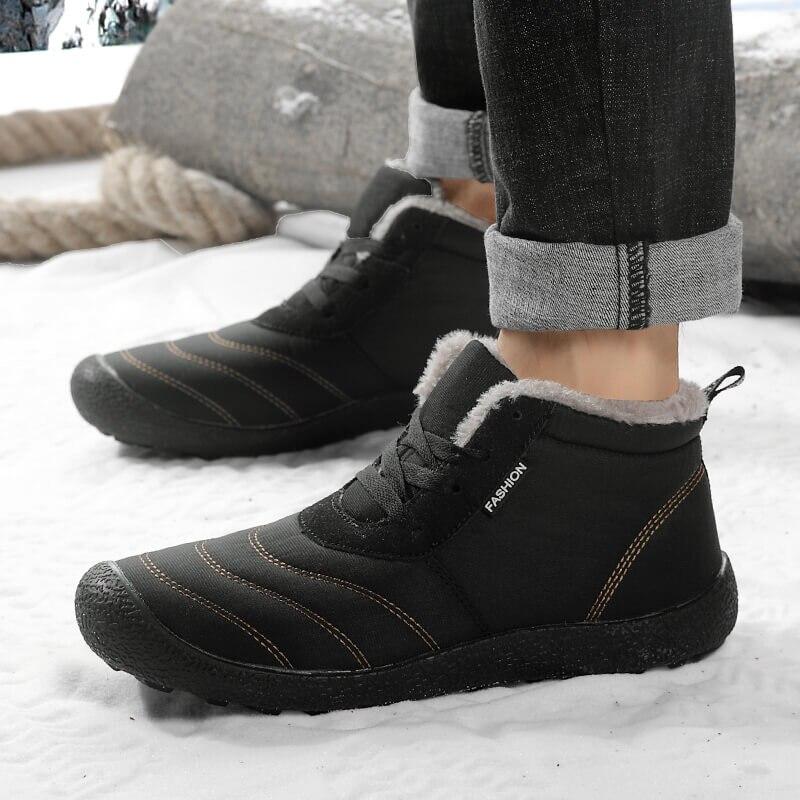 REETENE Super Warm Men Winter Boots For Men Warm Fur Waterproof Rain Boots Shoes Plush Men'S Ankle Snow Boot Botas Masculina 4