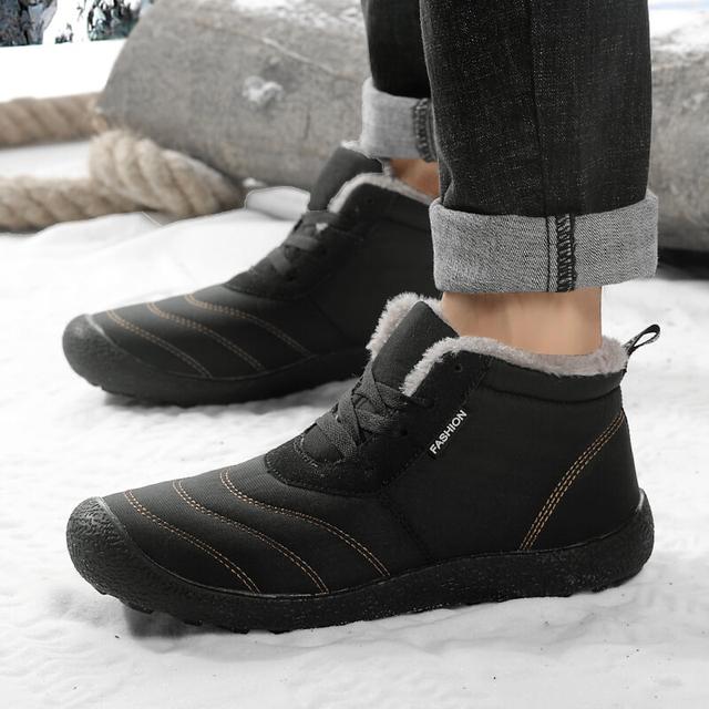 Super Warm Winter Fur Waterproof Rain Boots