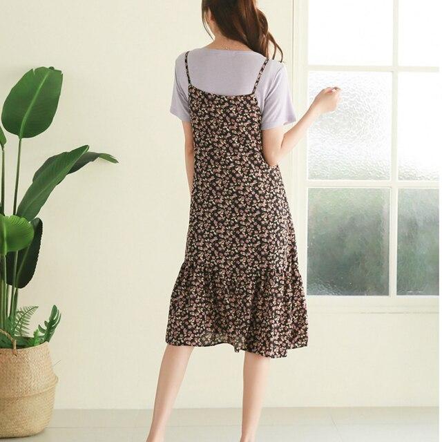 Oversized Loose Women Sleeveless Dress 2020 Summer Print Female Dress Hollow Out Suspender Dress Bohemian Brand Robe KE501 4