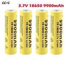 2-8pc de alta capacidade li-ion baterias 3.7v 18650 9900mah bateria recarregável para relógios ratos computadores digitais brinquedo frete grátis