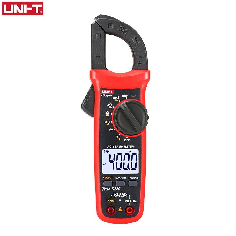 UNI T UNI-T Digital Clamp Meter UT201+ UT202+ UT203+ AC DC Current Amperimetro Tester Clamp Multimeter Resistance Frequency