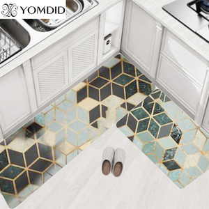 Quality Kitchen Carpets PVC Leather Floor Mats Tatami Waterproof Oil proof Kitchen Rugs Large Floor Carpets Doormats Bedroom