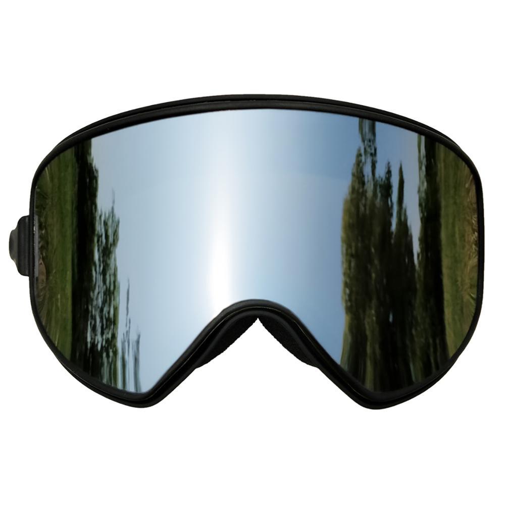 LOCLE Magnetic Ski Goggles 2 In 1 Anti-fog UV400 Skiing Eyewear Men Women Ski Snowboard Goggles Ski Glasses Men Women Ski Mask