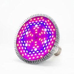 LED E27 rosnące żarówki pełne spektrum 80W 50W 30W 10W 5W Phyto lampa COB Chip AC85-265V dla kryty roślin cieplarnianych kwiat siewu