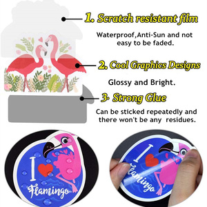 Image 5 - 50 PCS Flamingos Sticker Lovely Dream Cartoon Girl Animals Stickers for Mac DIY Notebook Luggage Fridge Guitar Laptop Decals