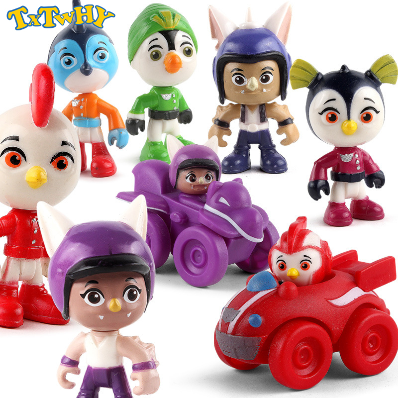 6pcs/set Top Wing Action Figure Toys Vehicles Figures Swift, Rod, Penny, Brody Toys Collection Dolls 7cm Kids Gift