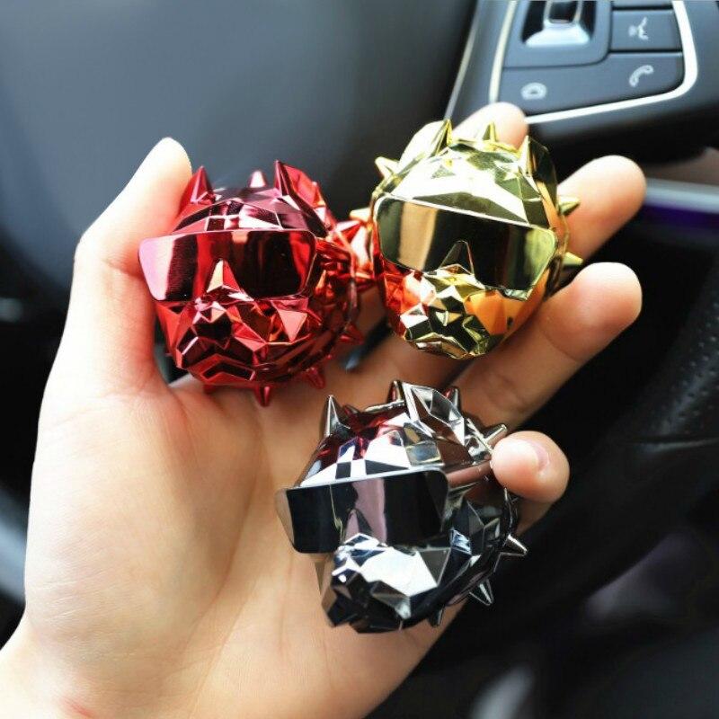 Clip de Parfum de voiture bouledogue populaire désodorisant d'air de ventilation automatique Parfum Bulldog diffuseur décor de voiture