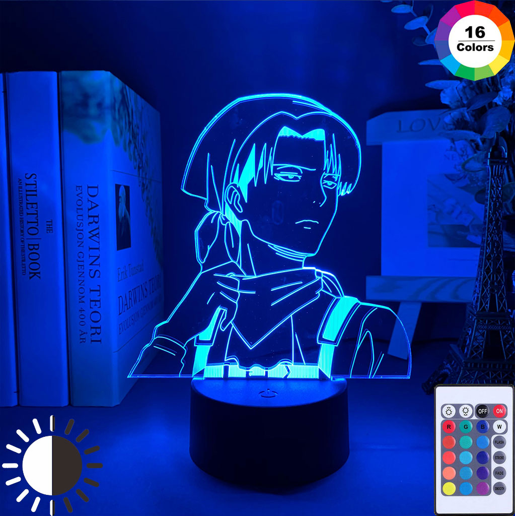Acrylic Anime 3D illusion Lamp for Bedroom Decor Table Colorful Nightlight Child Kids Toys Gift Bedside LED Night Light Xmas