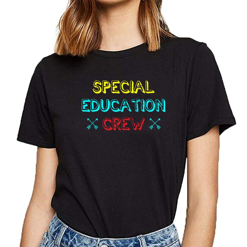 Camiseta femenina de algodón Harajuku divertida del maestro de sped de las mujeres