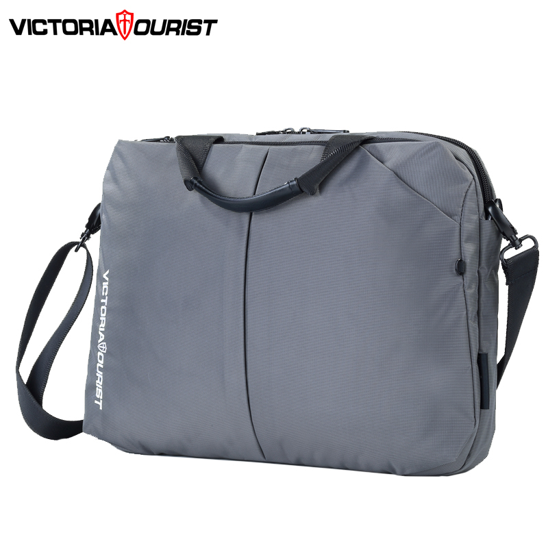 "Victoriatourist Business Handbag Men Women Stylish Versatile Briefcase 14"" Laptop Bag Multi-layer Space Messenger Bag"
