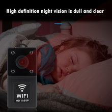 Kamera IP WiFi P2P IR Night Vision 1080P Mini kamera monitorująca bezpieczeństwa praktyczny ochronny zabezpieczający materiały eksploatacyjne tanie tanio ALLOYSEED wireless VIDEO NONE 480tvl CN (pochodzenie) Czarno-biały 5 3X8X5 cm Baby Monitor