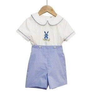INS popularne 2020 wiosna i lato nowa odzież dziecięca hiszpański brat i siostra sukienka ubrania maluch chłopcy odzież zestaw