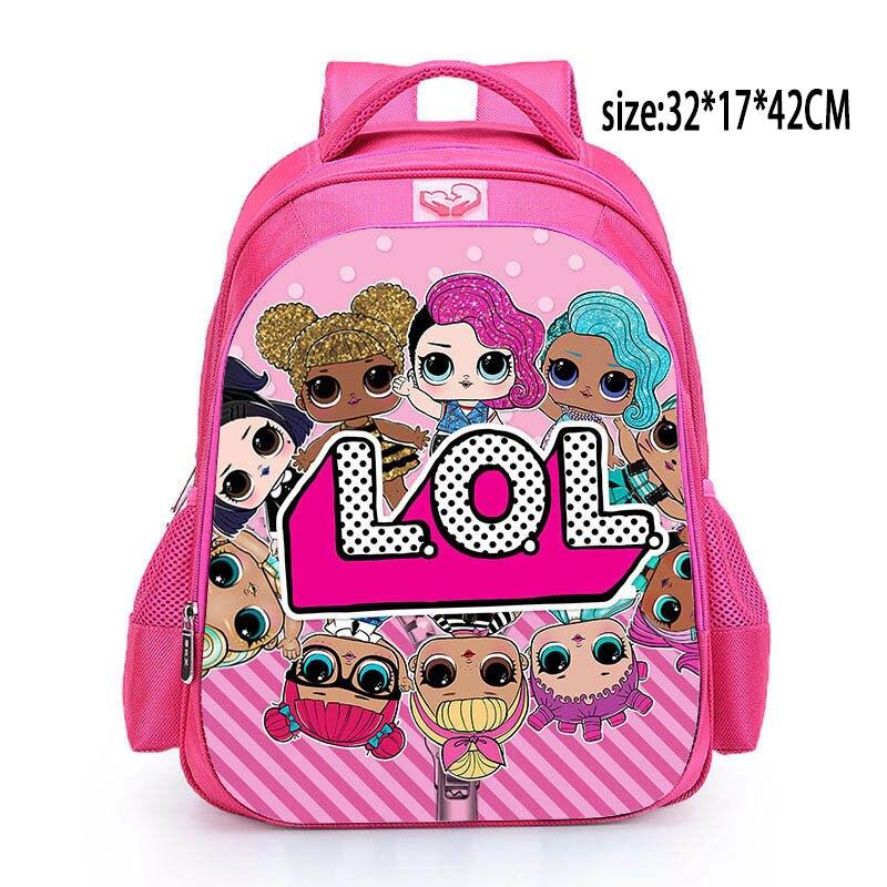 LOL Dolls SURPRISE Mochila Bag Children's School Cute Bag Plecak 3d Bag Cartoon Print Cute Anime Kids Backpack Kindergarten