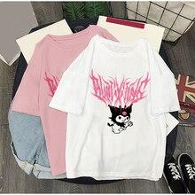 Summer female gothic Street T-Shirt Aesthetic Bratz T-Shirt Rap Hip Hop T Shirt Rock Street T-Shirt Harajuku Gothic T-Shirt