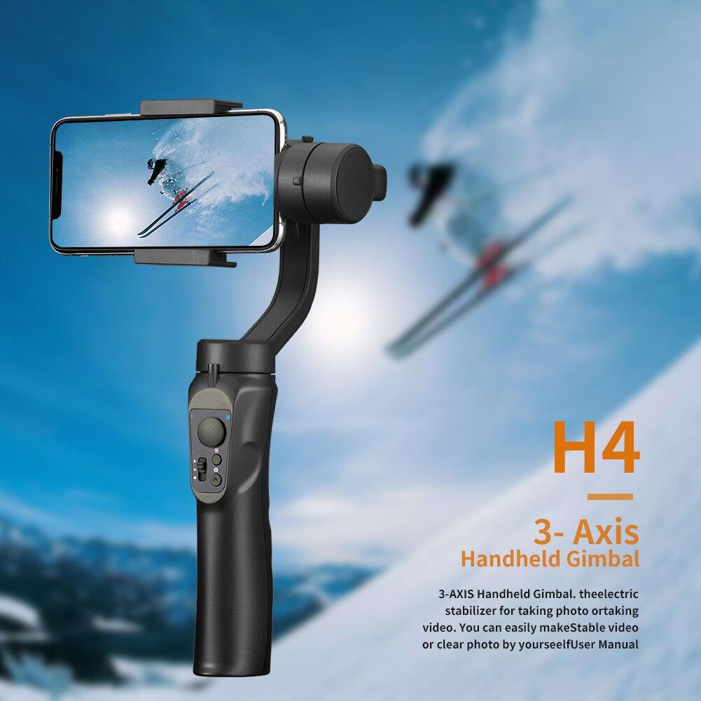 Stabilisateur de cardan tenu dans la main Flexible de 3 axes pour l'iphone Xs Max Xr X 8 Plus 7 pour Huawei pour Samsung S9, 8 support pour téléphone extérieur PTZ