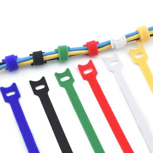 Фото 50 шт многоразовые цветные кабельные стяжки нейлоновые т образные цена