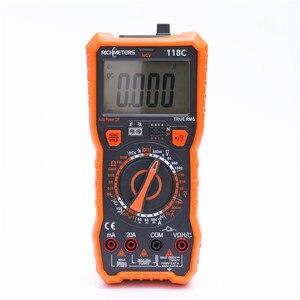 Image 2 - 20A multimètre numérique 6000 comptes testeur professionnel NCV HFE vrai RMS 100mF capacité tension ca/cc courant température outil