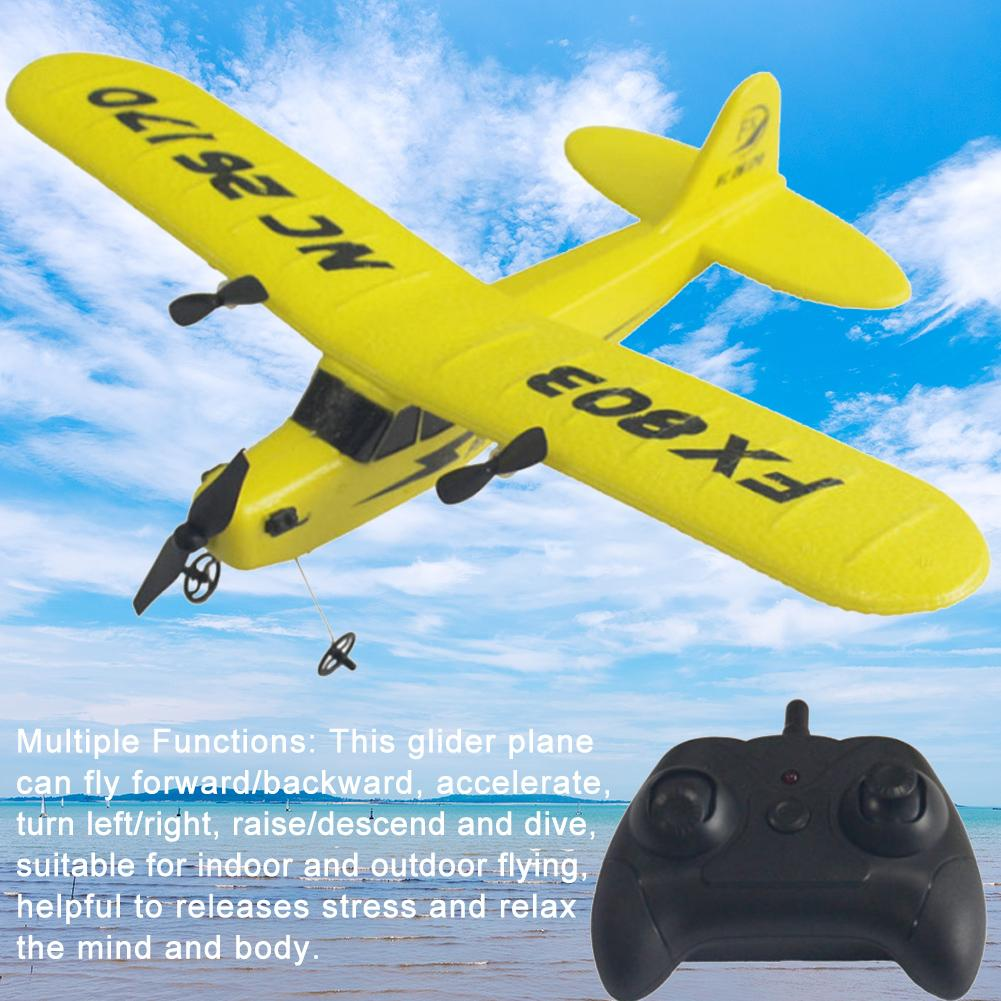 High Quality Remote Control Glider Plane 2.4GHz Rechargeable FX803 EPP Foam Drone Fixed Wing Aircraft With 2 Channel image