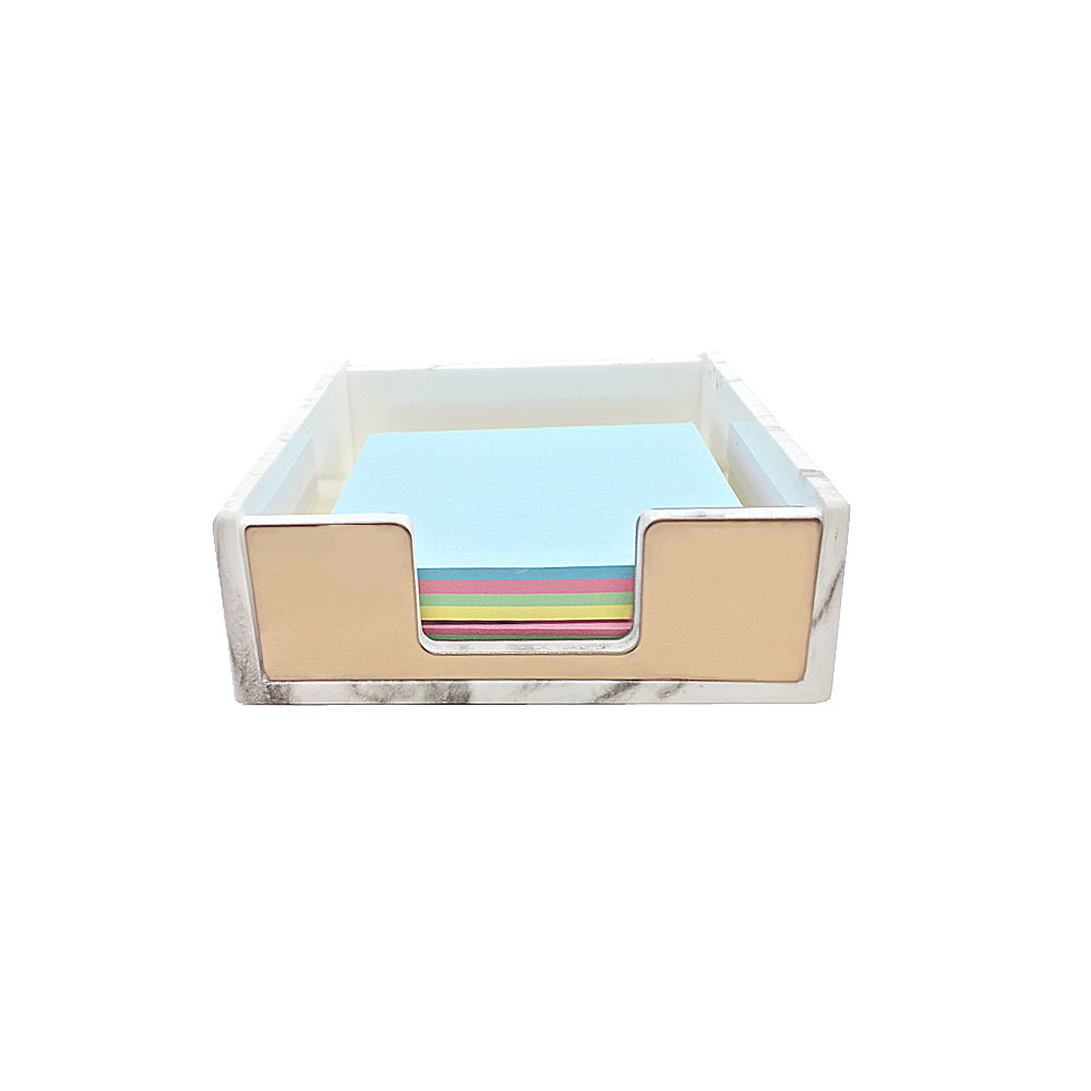 Marble Memo Holder Gold Self Stick Notes Cube Dispensers 5mm Super Thick Notepad Case For Office Home Desk Organizers Supplies