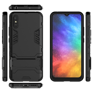 Image 4 - For Case Xiaomi Redmi 9A Cover For Redmi 9A Rubber + Hard Plastic Kickstand Back Cover For Xiaomi Redmi 7 8 9 6A 7A 8A 9A Fundas