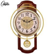 Большие настенные часы в скандинавском стиле 3d золотые ретро