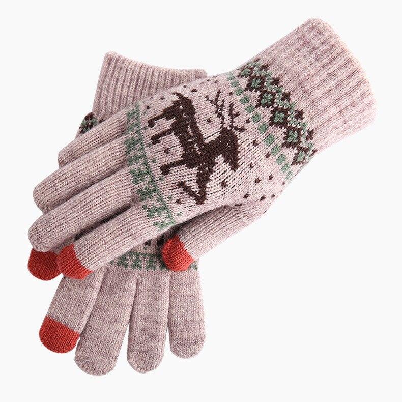 Knitted Wool Winter Women//Men Hand Wrist Warmer Fingerless Touch Screen Gloves