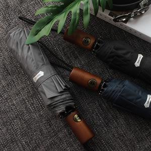 Image 3 - Parachase Automatic Umbrella Men Business 10 Ribs Wood Handle Golf Sun Umbrellas Windproof Anti UV Parasol Clear Umbrella UPF50+