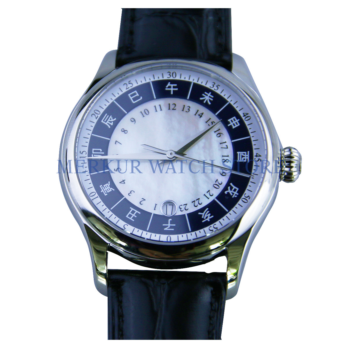 AD30 BOND <font><b>Seagull</b></font> <font><b>St2130</b></font> Movement Mens Mechanical Calendar Wristwatch Dress image