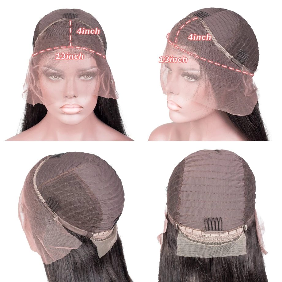 Straight Lace Front Wig Bob Wig Lace Front  Wigs  30 Inch Virgin Hair Wigs Bone Straight  Wig 6