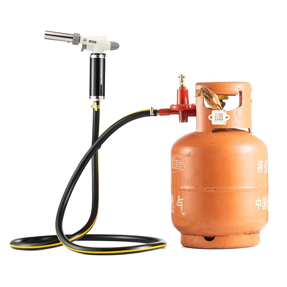 Gas Torch Adapter Camping Cookware Outdoor Flame Gun Outdoors Survival