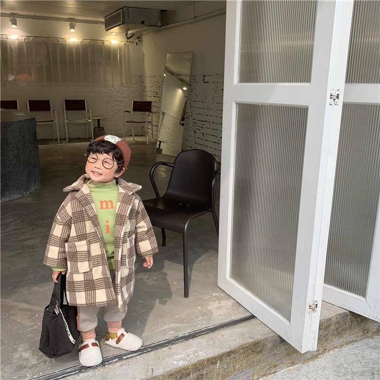 פעוט ילדי ילדה חורף מעיל Clothig ילדים חם לעבות מרופד מעיל תינוקת משובץ אופנה ארוך מעיל הלבשה עליונה תינוק בד