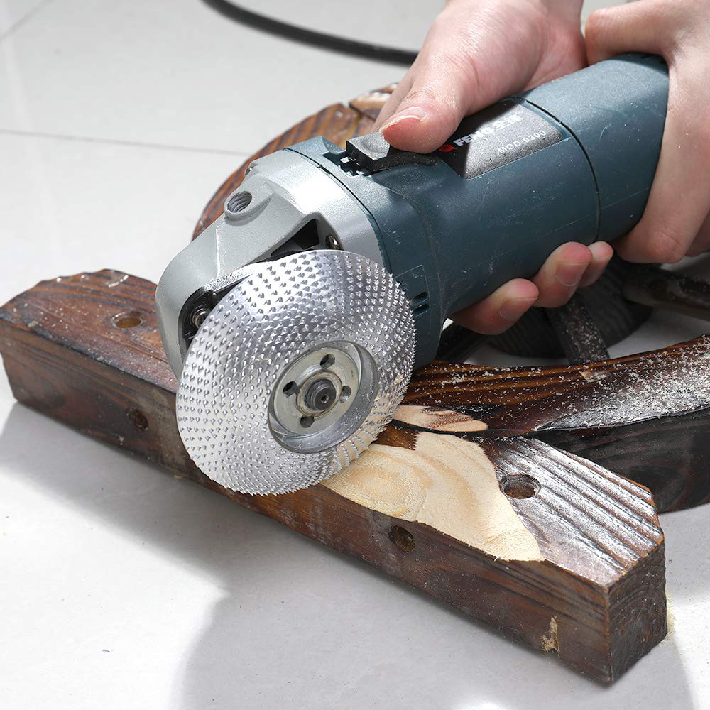 High Quanlity Wood Grinding Wheel Rotary Disc Sanding Wood Carving Tool Abrasive Disc Tools For Angle Grinder 4inch Bore(China)