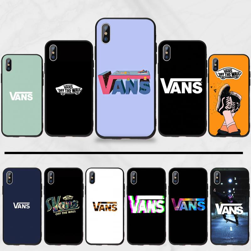 American Skateboard Brand VANS Black TPU Soft Rubber Phone Cover For Iphone 5 5S SE 5C 6 6S 7 8 Plus X XS XR 11 PRO MAX