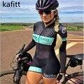 2021 Kafitt Team Triathlon Set Women's Cycling Jersey One Piece Jumpsuit Long Sleeve Macaquinho Ciclismo Feminino Set 9d Gel