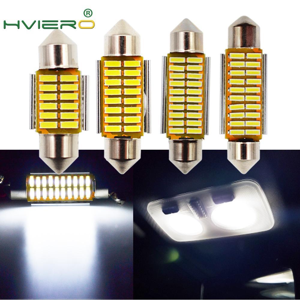 Auto Led White Festoon Dome C5W C10W Bulb 31mm 36mm 39mm 42mm LED 4014 SMD Canbus Error Free Auto Interior Doom Lamp Auto Light