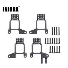 INJORA 4PCS Aluminium Vorne und Hinten Schock Türme Montieren für 1/10 RC Crawler TRX 4 TRX4 8216 Upgrade Teile