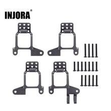 Injora 4 Pcs Aluminium Front & Rear Shock Torens Mount Voor 1/10 Rc Crawler TRX 4 TRX4 8216 Upgrade Onderdelen