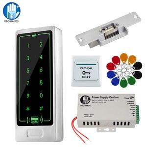 Image 1 - דלת בקרת גישה מערכת ערכת 125KHz RFID קורא מקלדת + אספקת חשמל + אלקטרומגנטית חשמלי Strike בורג מנעולי + EM Keyfbos